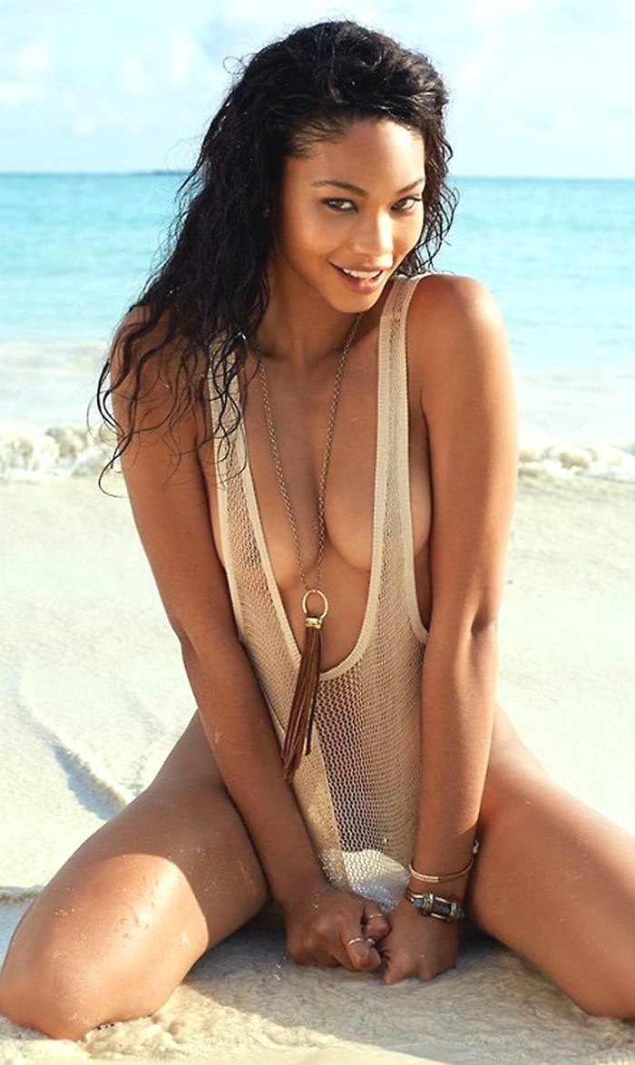 Chanel Iman nipples and pussy