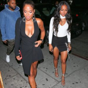Karrueche Tran with Christina Milian paparazzi