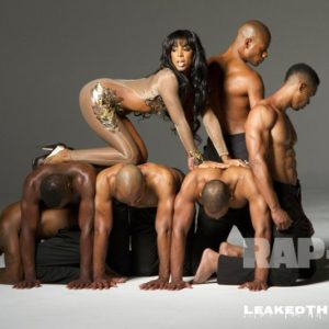 Kelly Rowland man pile photo