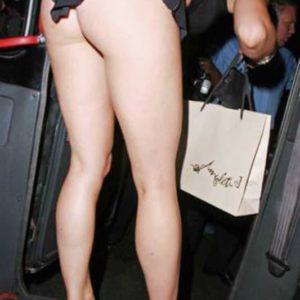 Mariah Carey bare ass bending over upskirt