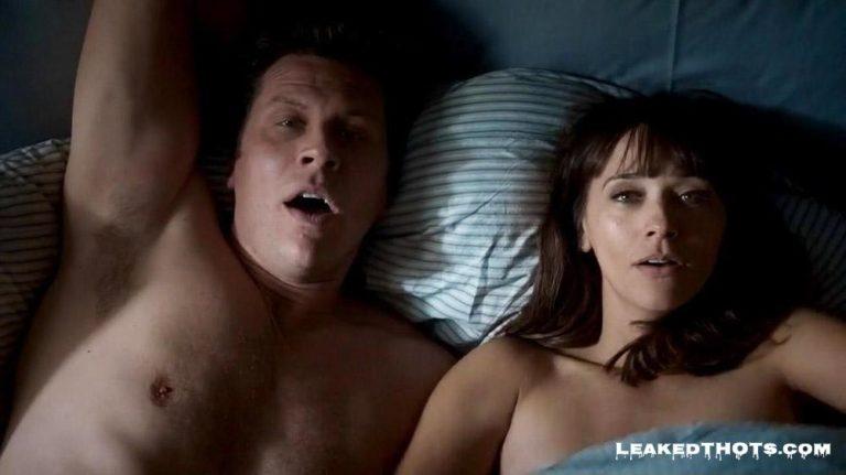 Rashida Jones in bed after sex
