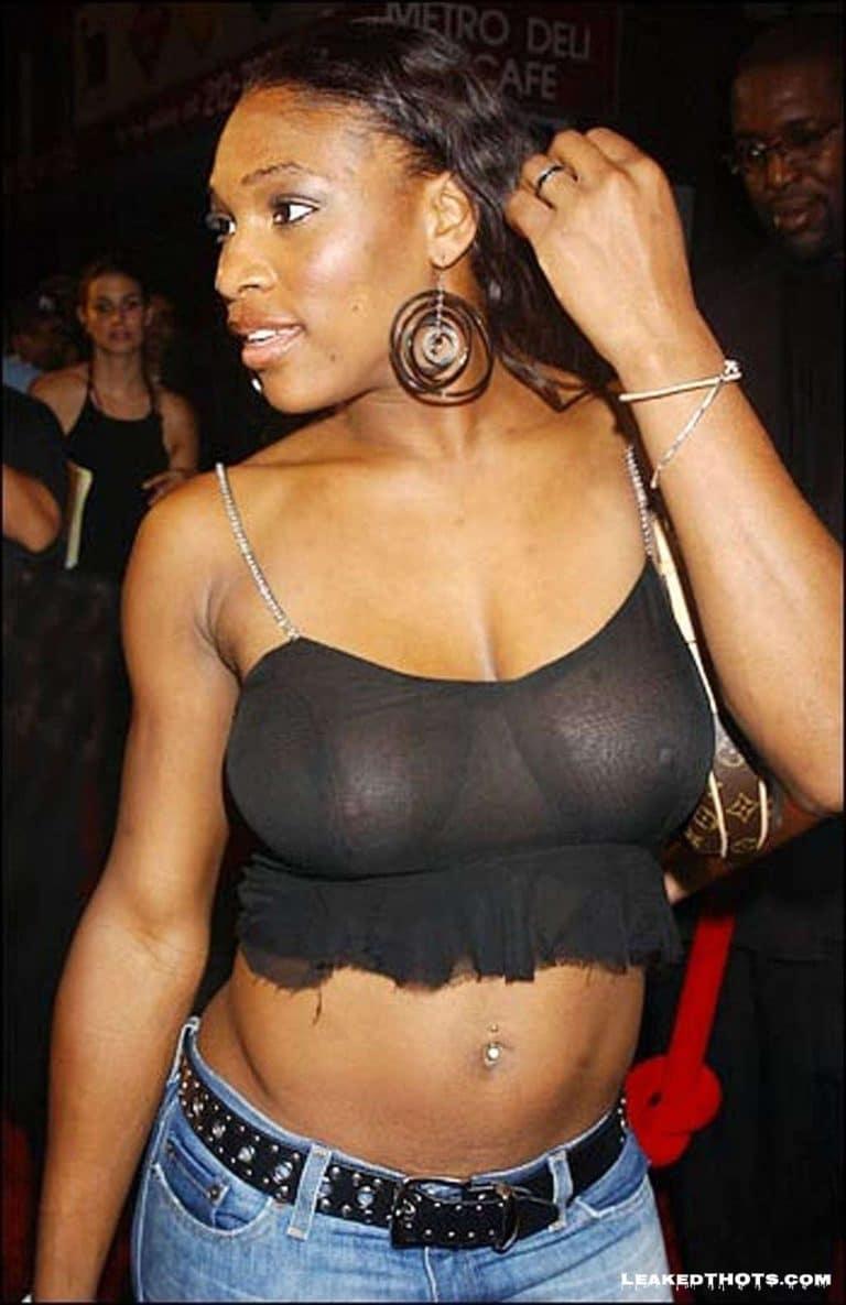 Serena Williams see through shirt
