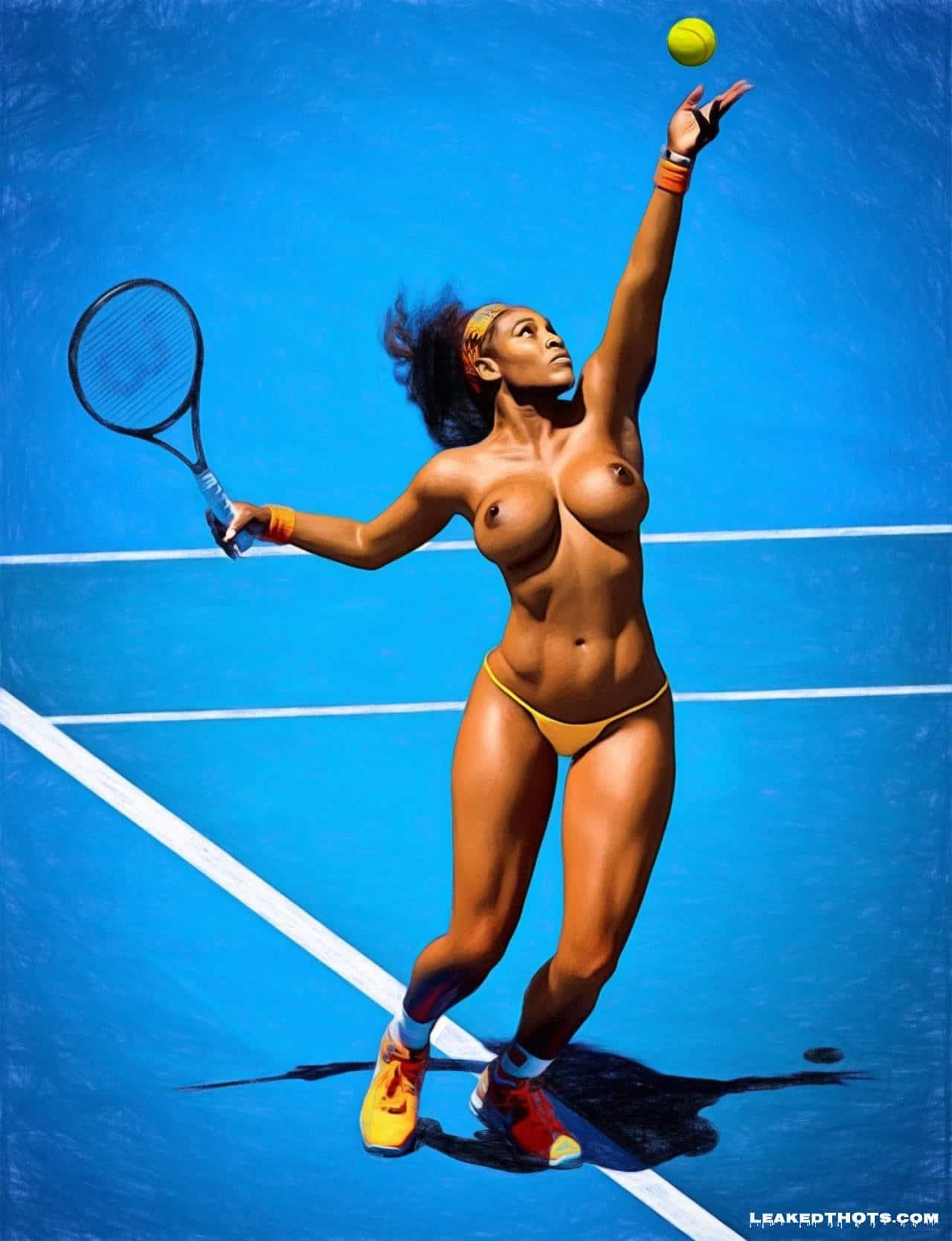 Serena Williams nips
