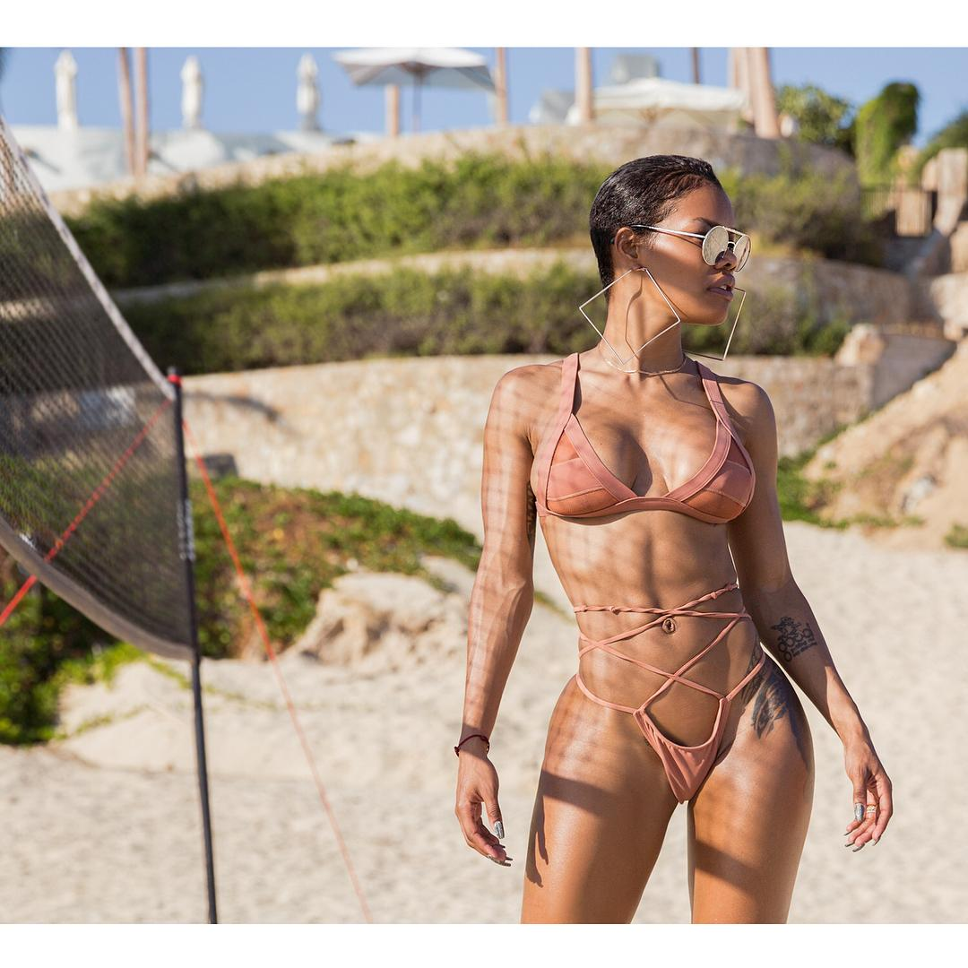 Teyana Taylor undressed